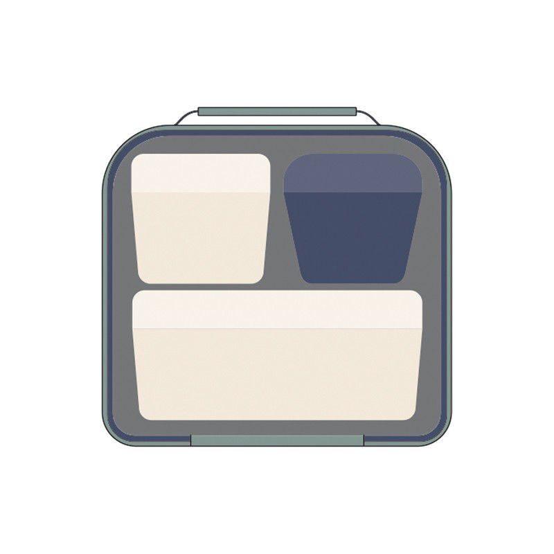 Bolsa isotérmica porta alimentos con 3 recipientes Melt verde (3,5l)