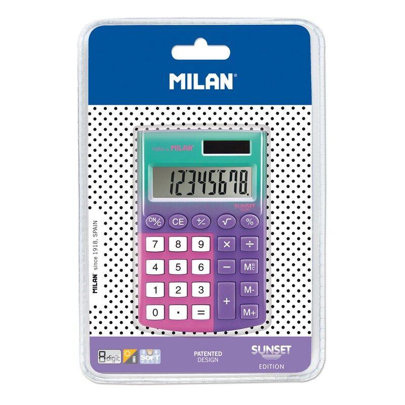 Blíster calculadora 8 dígitos pocket Sunset lila - rosa