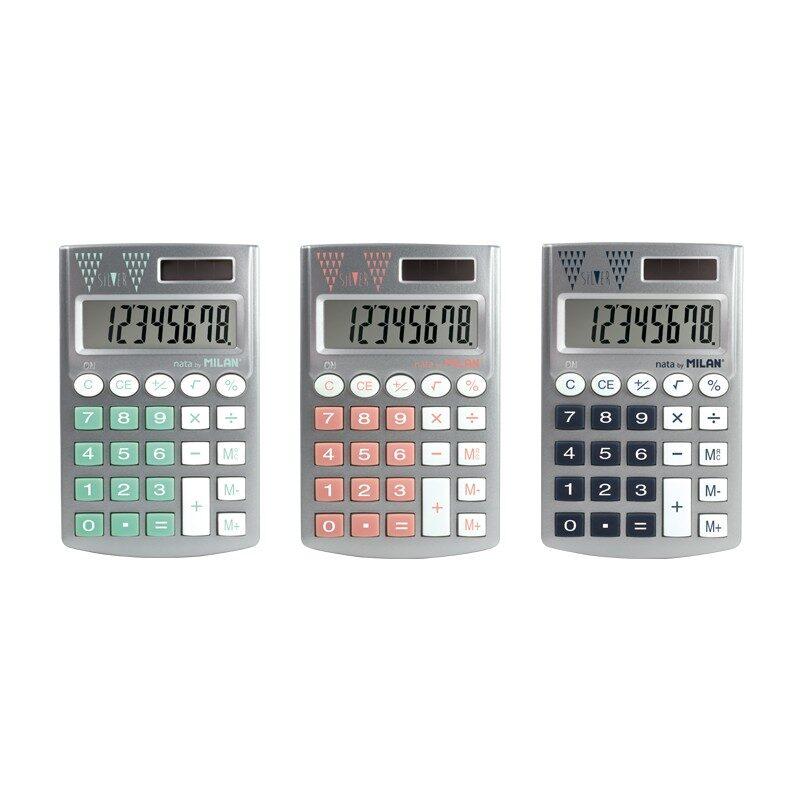 *Calculadora 8 dígitos Pocket Silver