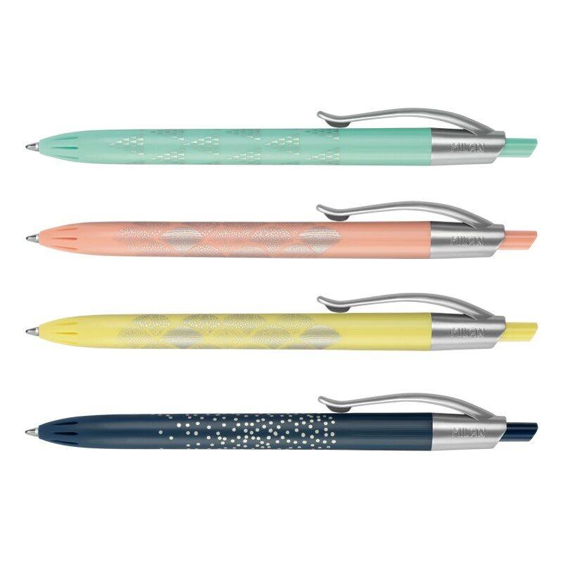 Estuche con 4 bolígrafos P1 Silver