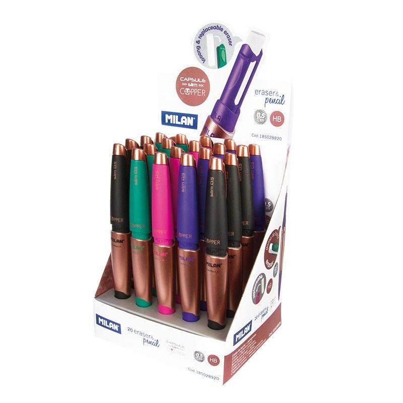 portaminas eraser&pencil CAPSULE Slim Copper 0.5 mm