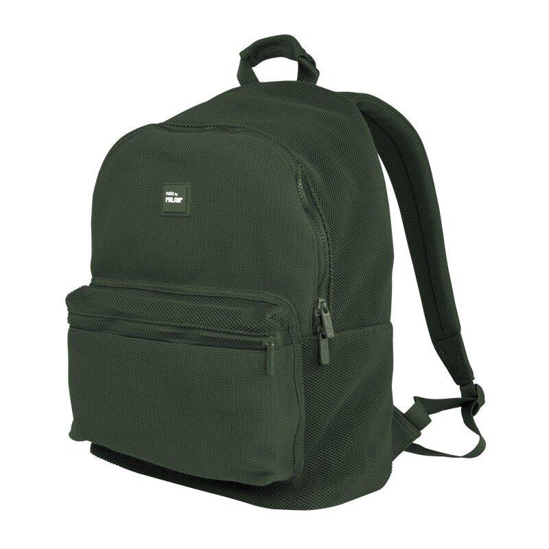 Mochila escolar Knit Khaki Green
