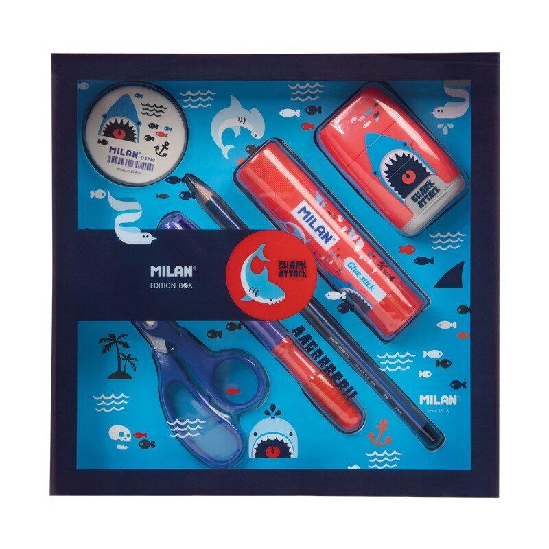 Caja regalo edición Shark Attack azul y rojo