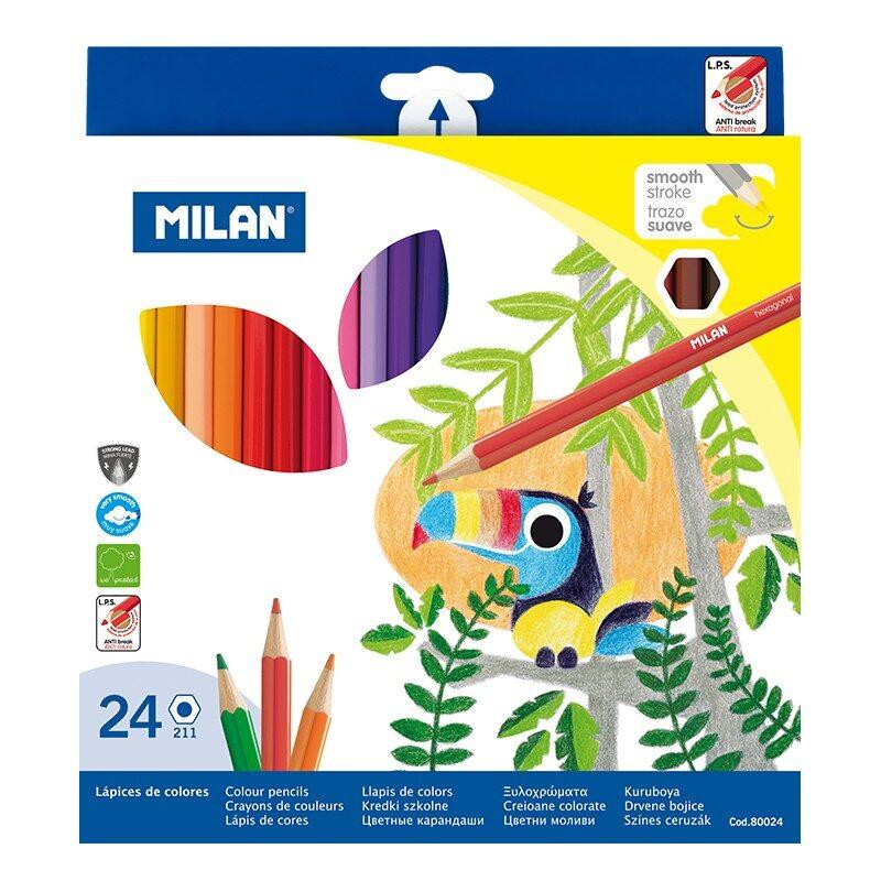 Caja 24 lápices de colores hexagonales