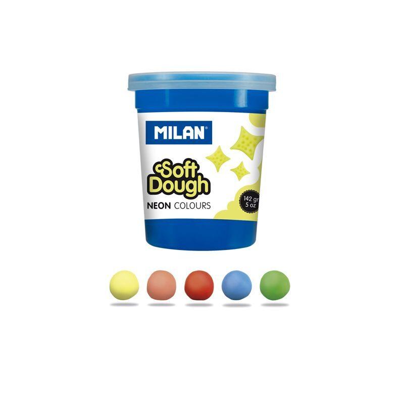 Caja 5 botes pasta de modelar blanda Soft Dough Neon