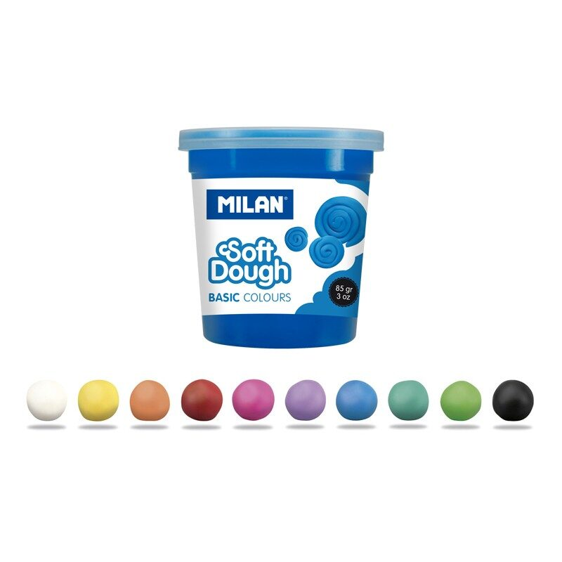 Caja 10 botes pasta de modelar blanda Soft Dough Basic