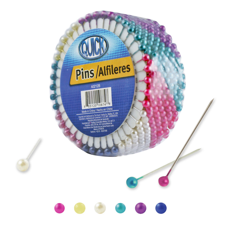 *Alfileres surtidos 5mm colores surtidos 280 piezas