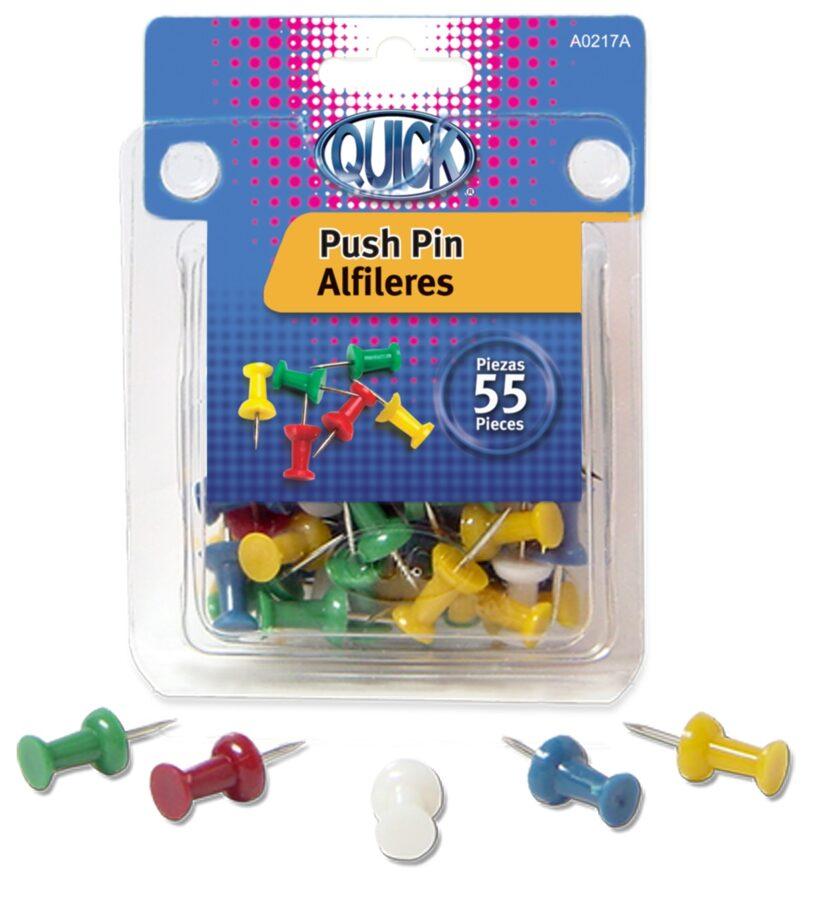Push pin colores solidos 55 unidades