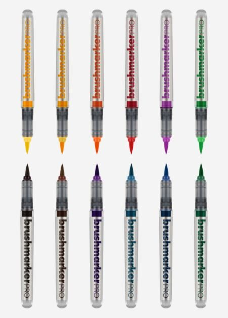 Brush Marker PRO 12 pcs basic colores