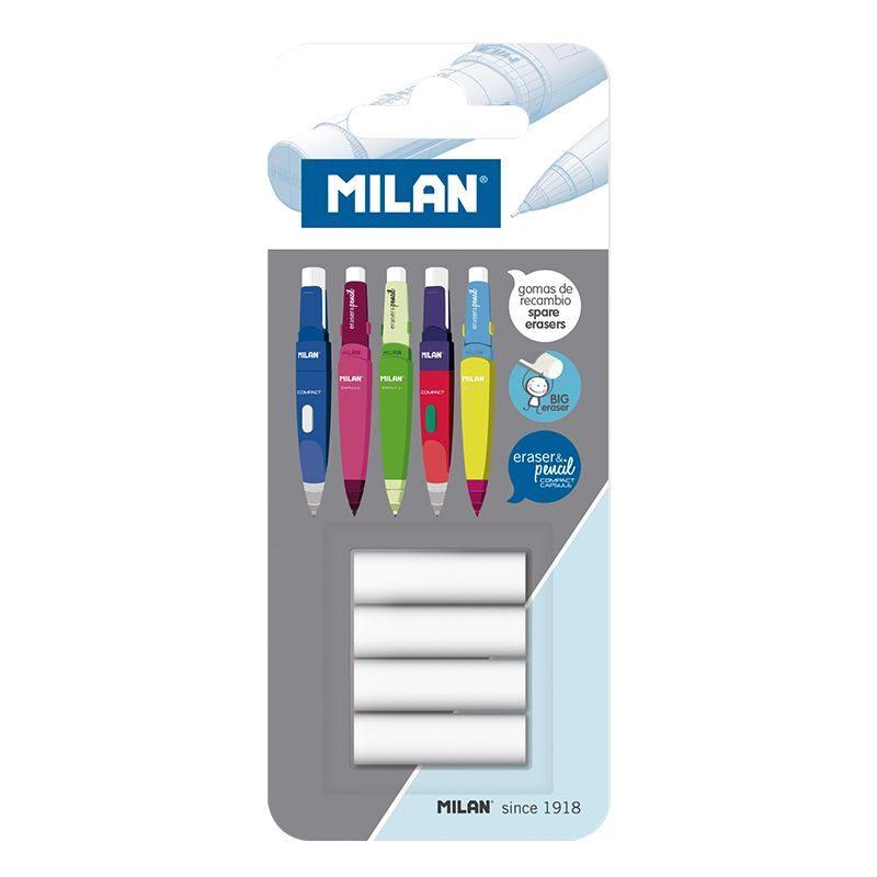 Blíster 4 borradores de repuesto eraser&pencil CAPSULE y COMPACT