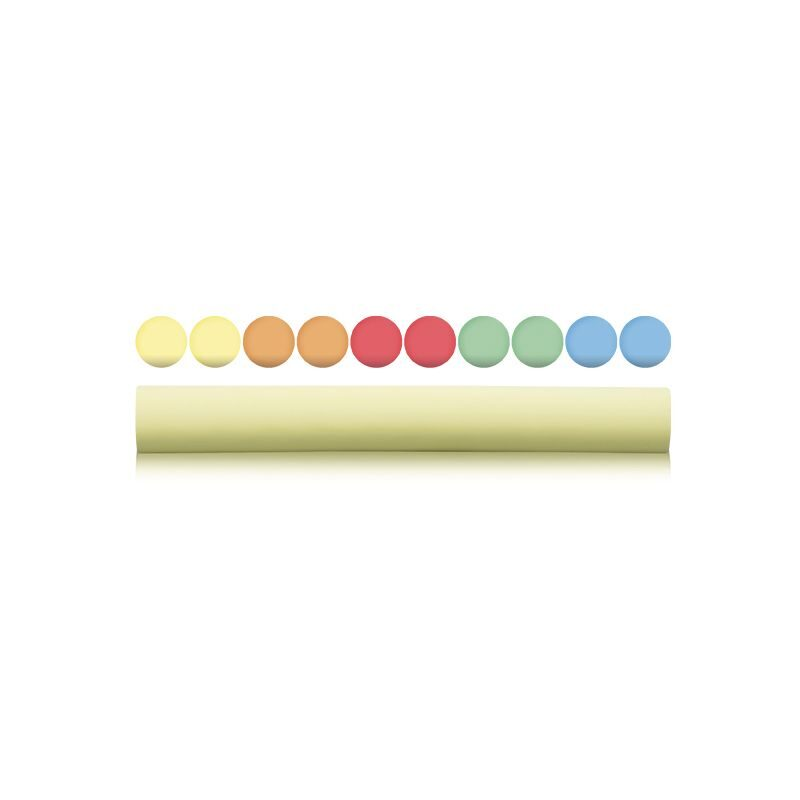 Blíster 1 caja 10 tizas de colores y 1 caja 10 tizas blancas