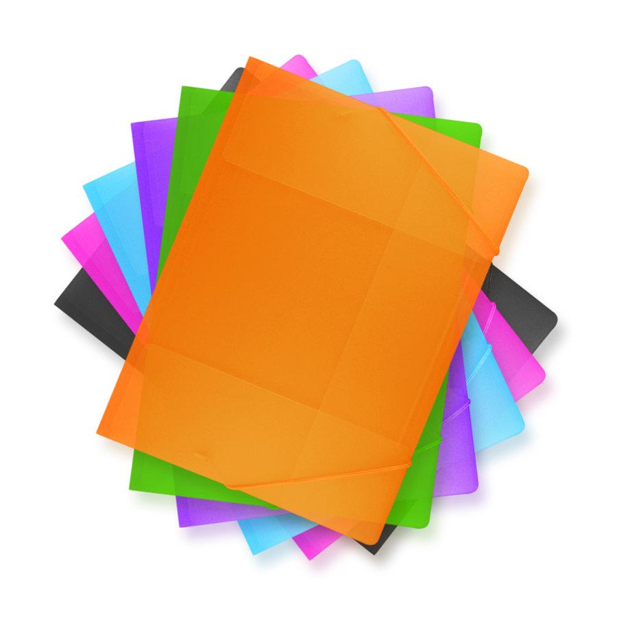 Carpeta con liga colores surtidos, tamaño carta.