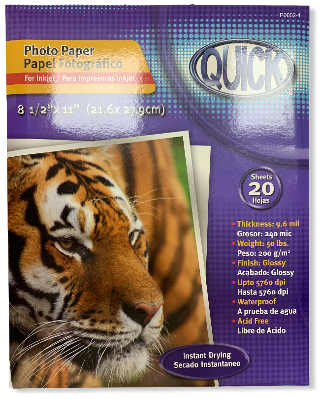 Papel fotográfico para impresora inkjet
