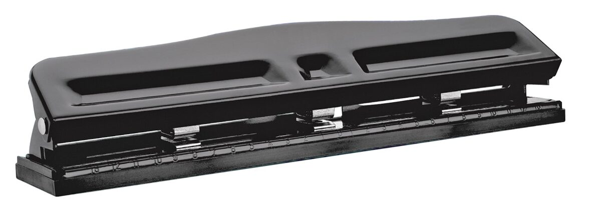 Perforadora metálica 3 huecos ajustable 10 hojas