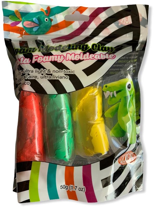 Foam moldeable surtido 5 colores