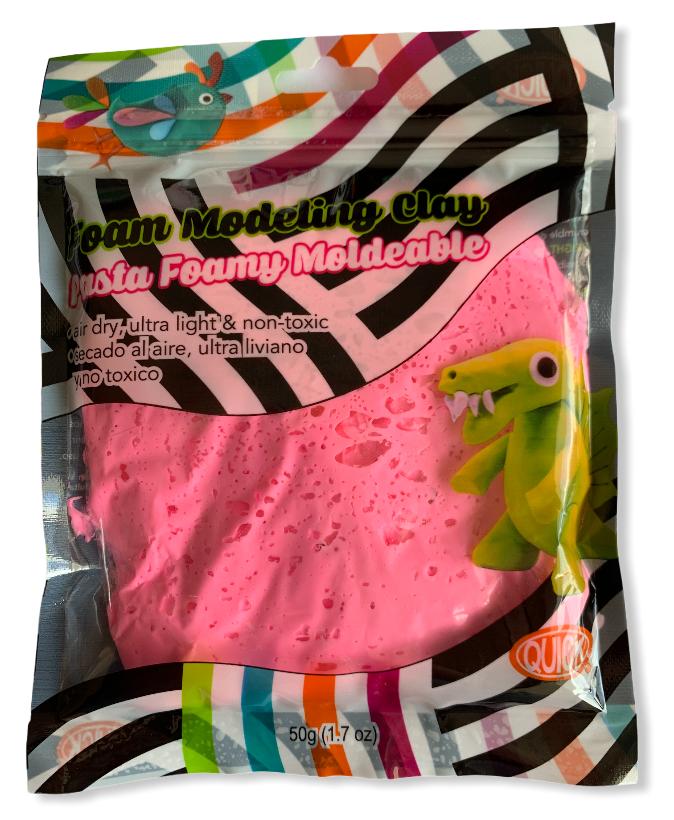 Foam moldeable rosado neón