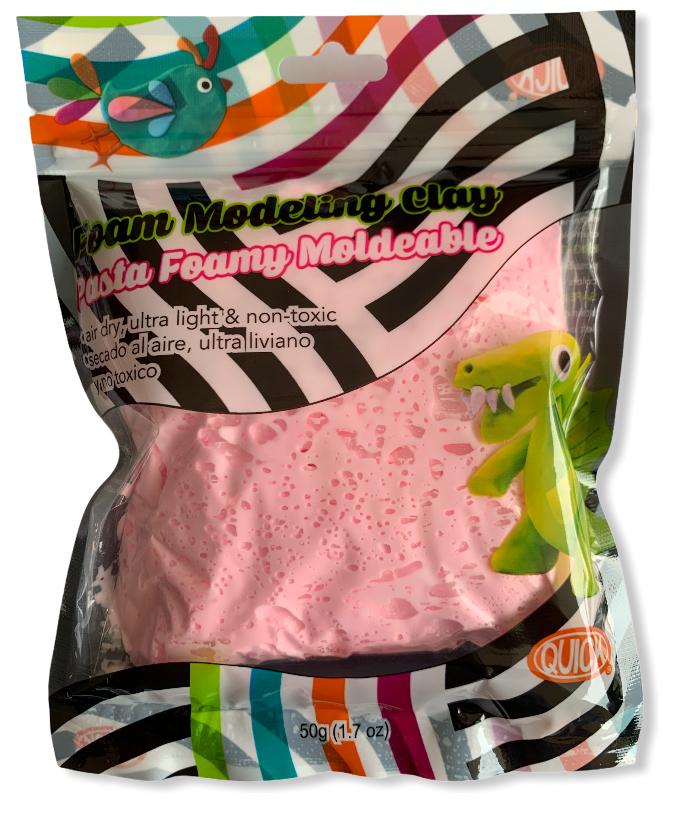 Foam moldeable rosado pastel