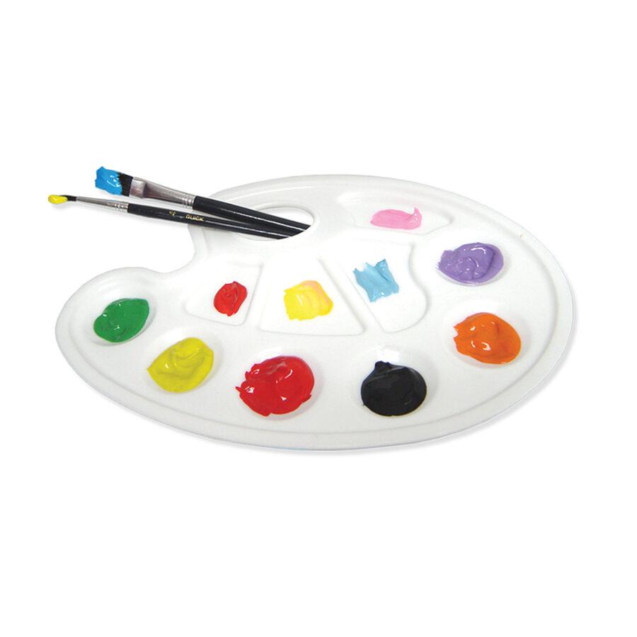 "Paleta plástica  para pintura 7"" con agarre ovalado"