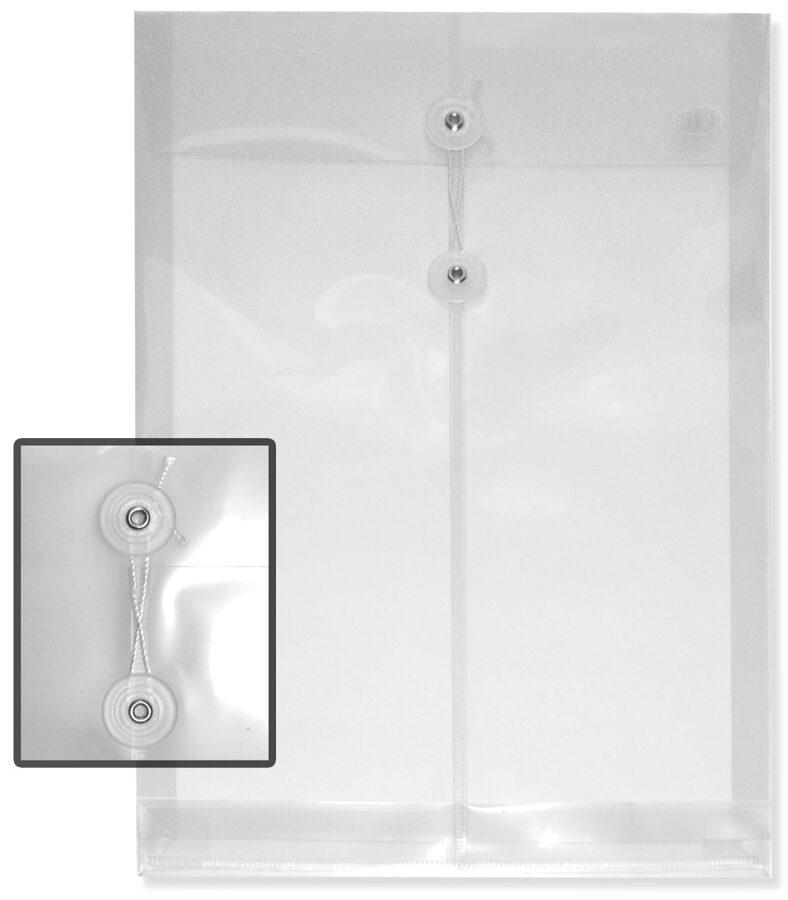 Sobre transparente para documentos vertical con hilo tamaño legal