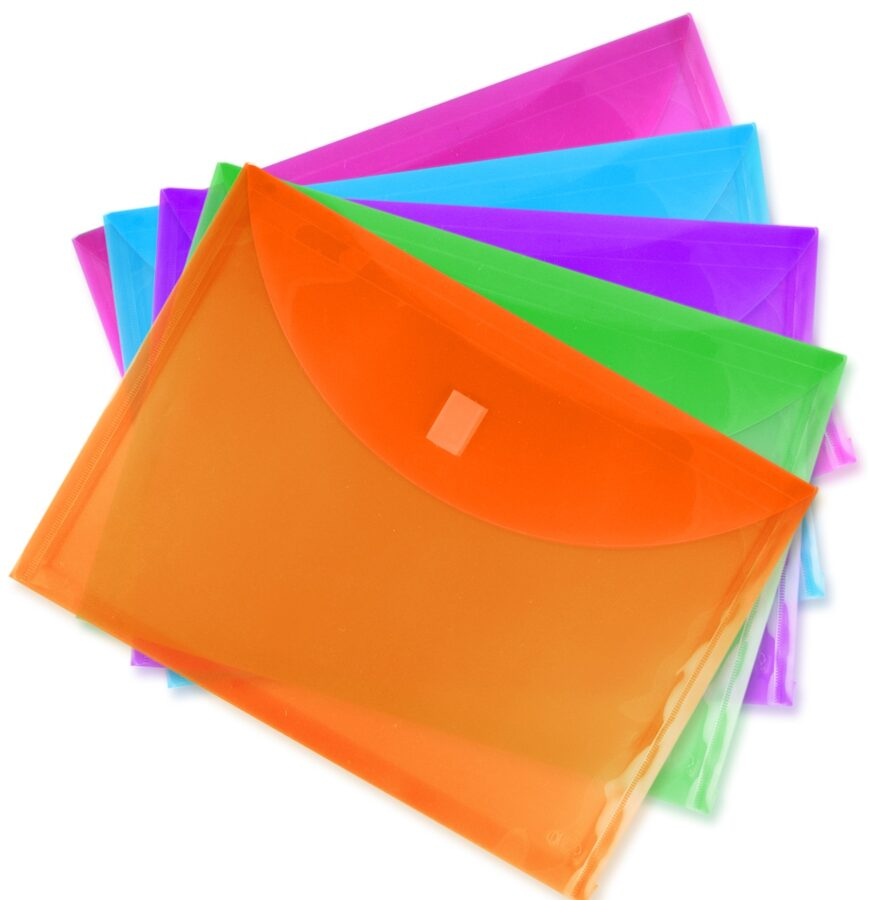 Sobre horizontal para documentos, tamaño carta