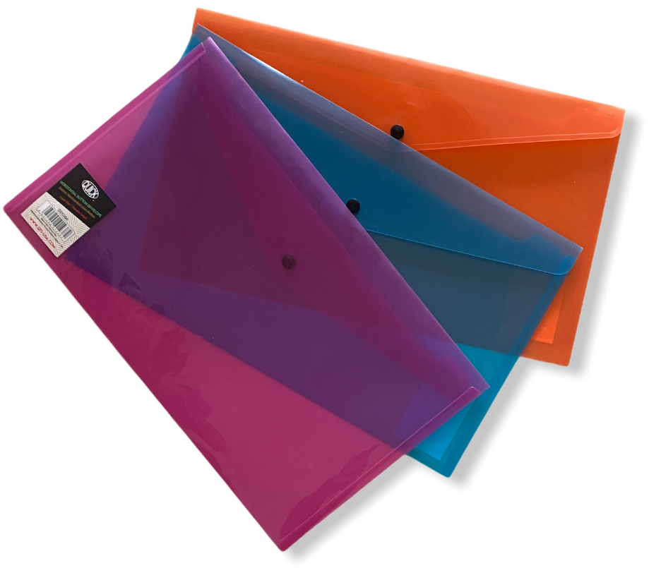 Sobre horizontal broche carta, colores surtidos