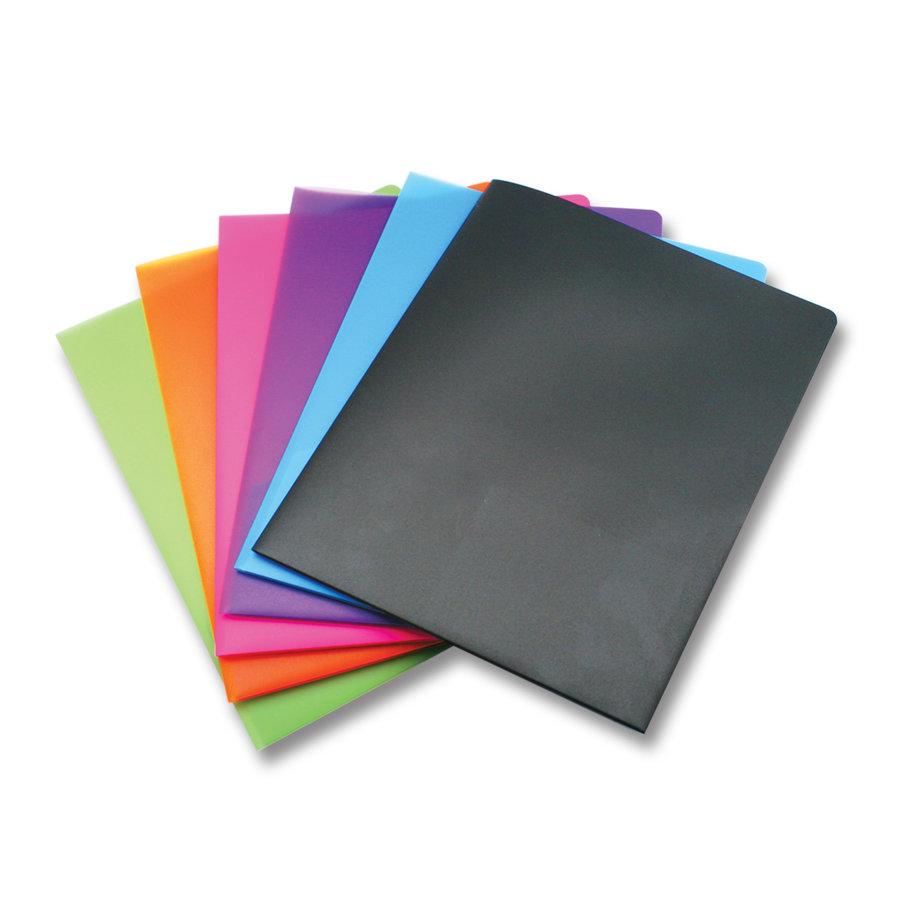 Carpeta dos bolsillos tamaño carta colores surtidos.