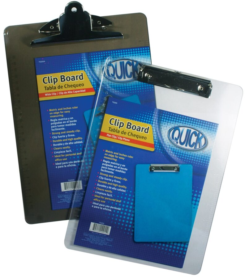 Tabla de chequeo acrílica tamaño carta/ clip plano