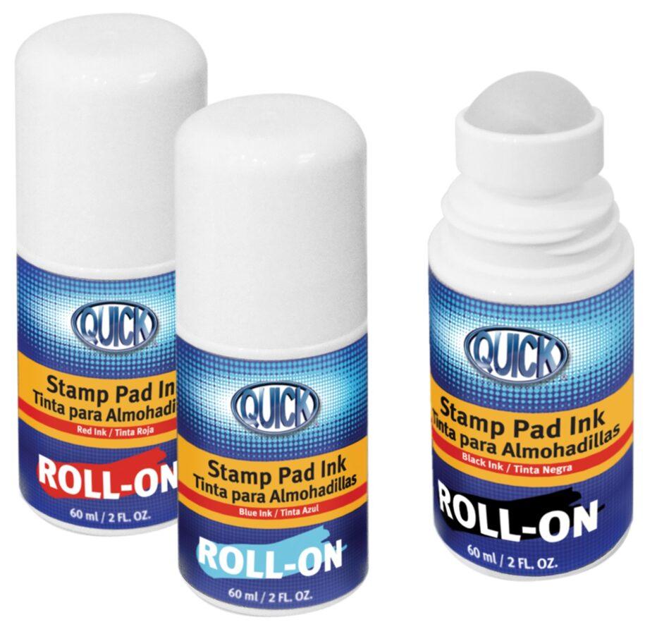 Tinta azul para sellos en roll-on