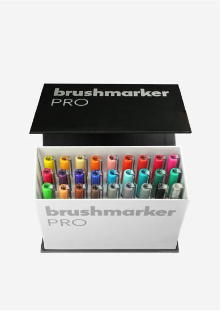 Brush Marker Pro mini box 26 colores + blender