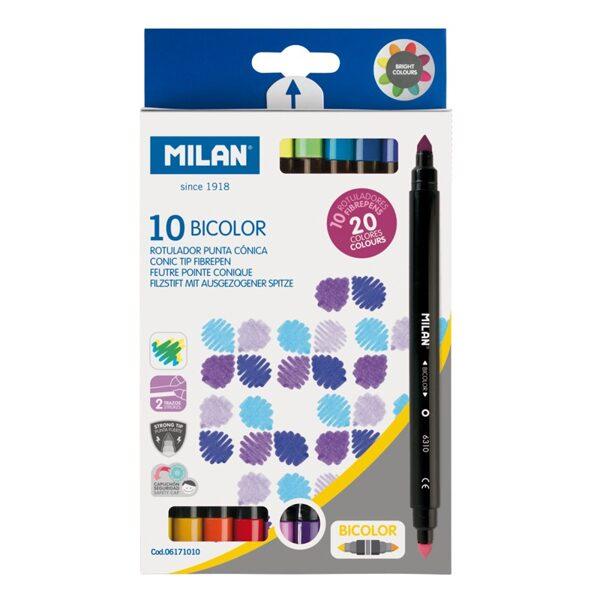 Caja 10 rotuladores bicolor