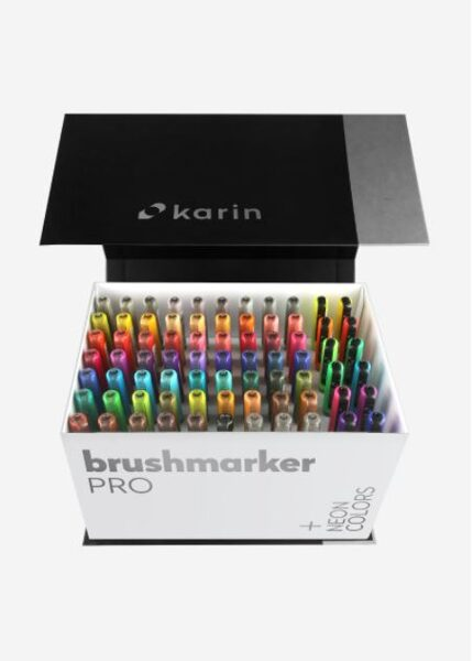 Brush Marker PRO MEGA BOX PLUS 72 colores + 3 blender
